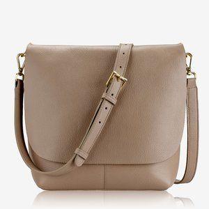 GiGi New York ANDIE CROSSBODY Stone Napa Luxe Bag